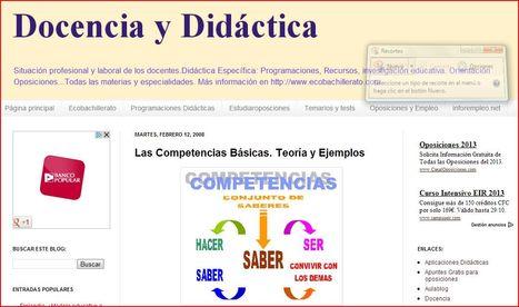 Docencia y Didáctica: Las Competencias Básicas. Teoría y Ejemplos | Orientación educativa | Scoop.it