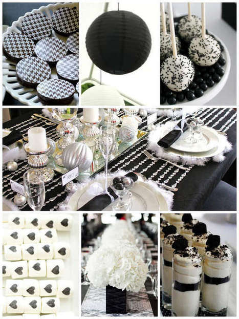 How to Create an Unforgettable Black and White Bridal Shower | Wedding Inspiration and Planning | Scoop.it