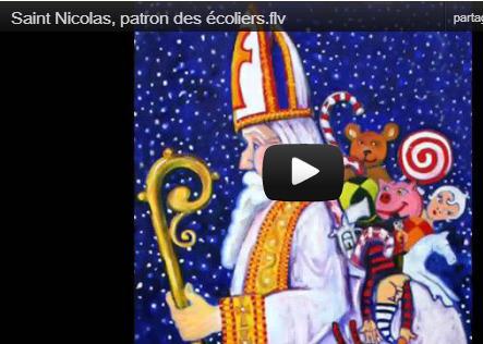 Entraînement en ligne - FLE: Saint Nicolas, patron des écoliers. Chanson (vidéo et paroles)