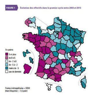 Panorama des collèges en 2014 : de fortes inégalités territoriales | école de demain | Scoop.it