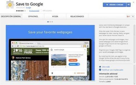 Guarda páginas web con Save to Google | Recursos i Eines | Scoop.it