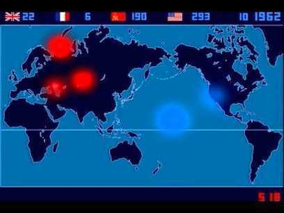 A Time-Lapse Map of Every Nuclear Explosion Since 1945 - by Isao Hashimoto - YouTube | tweede wereldoorlog | Scoop.it