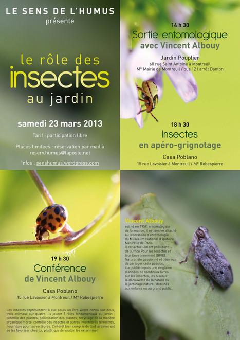 Rôle des insectes au jardin le 23 Mars : conférence, sortie entomologique, insectes en apéro-grignotage. EST PARISIEN | Parisian'East, la communauté urbaine des amoureux de l'Est Parisien. | Scoop.it