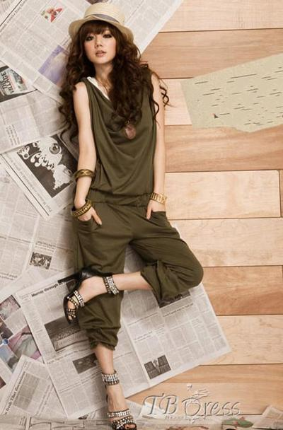 $ 15.99 Glamorous Loose Drape Personality Boutique Green Jumpsuits | fashion | Scoop.it