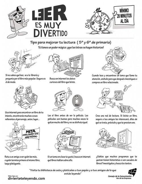 Tips para mejorar tu lectura ( 5° y 6° de primaria ) | Bibliotecas ...