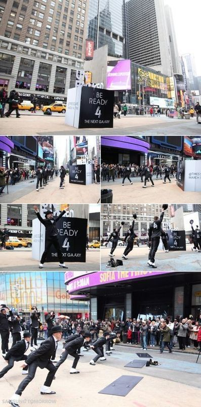 Samsung GALAXY S4: Flashmob on Times Square [Video] | Tech and Boarding | Scoop.it
