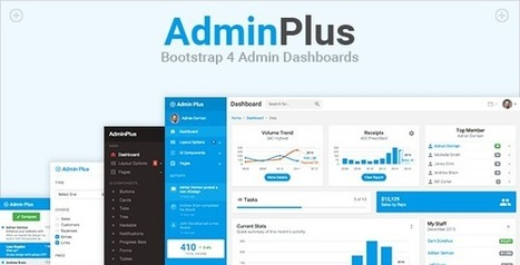 AdminPlus Premium Bootstrap 4 Admin Dashboard Template | Collection of creative themes and templates. | Scoop.it