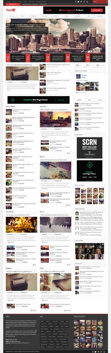 Voxis, WordPress Breaking News Theme | WP Download | ram | Scoop.it