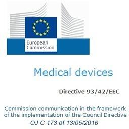 Mise à jour des normes harmonisées pour les dispositifs médicaux (13/05/2016) | Dispositifs Médicaux, e-santé | Scoop.it