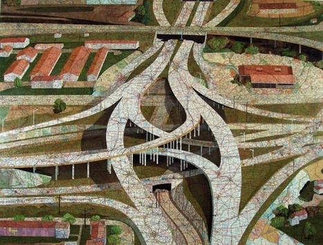 Art using inlaid maps | Cartography | Scoop.it