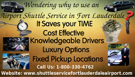 Wondering why to use an airport shuttle service in Fort Lauderdale?   shuttleservicefortlauderdaleairport   Scoop.it