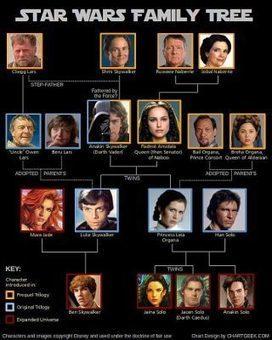 El árbol genealógico de Star Wars | geekroom | Scoop.it
