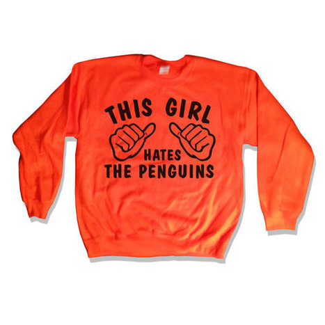This Girl Hates - The Penguins Sweatshirt Orange Go Flyers Sweater 035   Mindfulwear Collection   Scoop.it