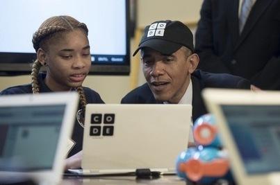 Quand Barack Obama fait du code… à l'école - La Croix | Actualités de l'école | Scoop.it