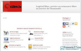 Le site du jour : Clibre : pour promouvoir les logiciels libres | Logiciels libres,Open Data,open-source,creative common,données publiques,domaine public,biens communs,mégadonnées | Scoop.it