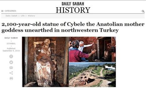 Découverte : une statue de Cybèle à Kotyora (Ordu), Turquie | Monde antique | Scoop.it