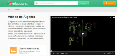 145 nuevos videos para aprender Álgebra en Educatina | Eduartefacto | Scoop.it