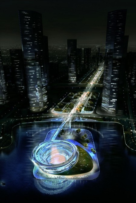 KSP Designs Floating 'Urban Helix' for Changsha | green streets | Scoop.it