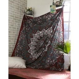 Cotton Maroon Printed Mandala Tapestry | Fashion & Accessories | Scoop.it