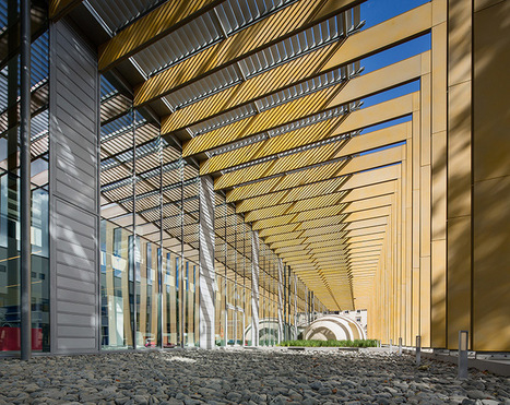 [Pontivy, France] steel blades envelope media library by Opus 5 architectes - designboom | architecture & design magazine | The Architecture of the City | Scoop.it