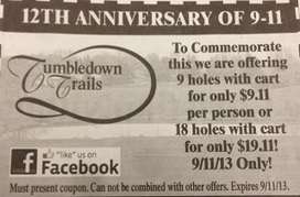 Golf Course Draws Death Threats With Clueless 9/11 Anniversary Coupon Deal | Mediaite | Public Relations & Social Media Insight | Scoop.it