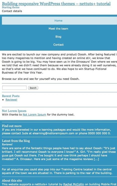 Building a Mobile First Responsive WordPress Theme - Tuts+ Code Tutorial | bod-Wordpress | Scoop.it