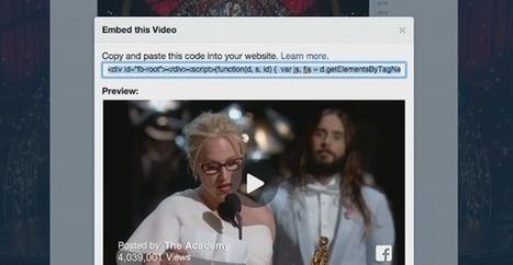 Les vidéos de #Facebook peuvent être exportées sur d'autres sites | Veille SEO - Référencement web - Sémantique | Scoop.it
