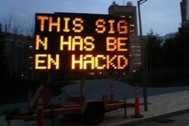 11 Of The Craziest Hacked Roadside Signs | Strange days indeed... | Scoop.it