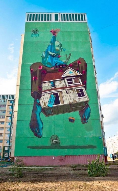 Street Art by Polish Artists SAINER and BEZT | Pintando | Scoop.it