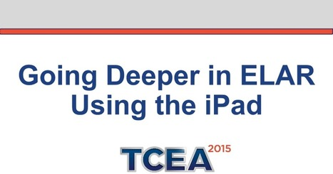 Going Deeper in ELAR Using the iPad | All things Elementary... Reading and Writing | Scoop.it