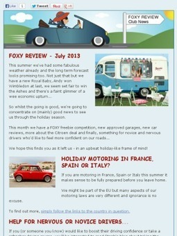 FOXY Review - July 2013 | Car History Check | Scoop.it