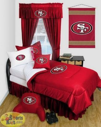 Sports Coverage San Francisco 49ers Locker Room Bedding Series Custom Package | NFL Bedding Sets - Sportskids.com | Scoop.it