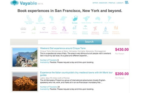 Vayable Is A Marketplace For Unique Travel Experiences | Social Media Content Curation | Scoop.it