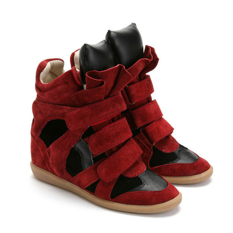 Upere Wedge Sneakers Suede Red Wine Black - $190.68 | UPERE Wedge Sneakers Show | Scoop.it