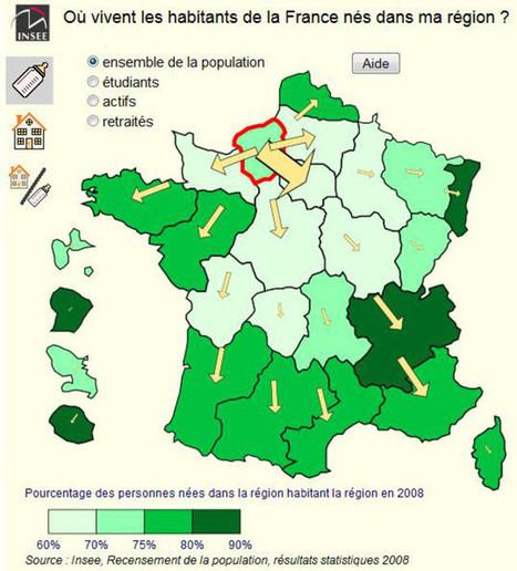 Habitants de Normandie : d'où venez-vous, où partez-vous ? | Géographie au lycée | Scoop.it