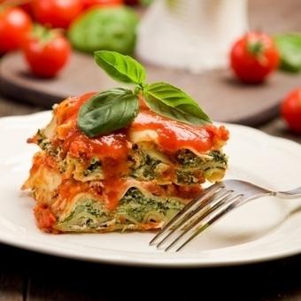 Λαζάνια με σπανάκι, ντομάτα και πράσο | Recipes!!! | Scoop.it
