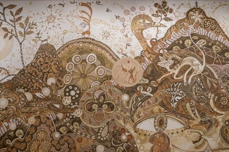 A New Large-Scale #Mud #Mural by Yusuke Asai Sprawls through #Rice #Gallery. #art | Luby Art | Scoop.it