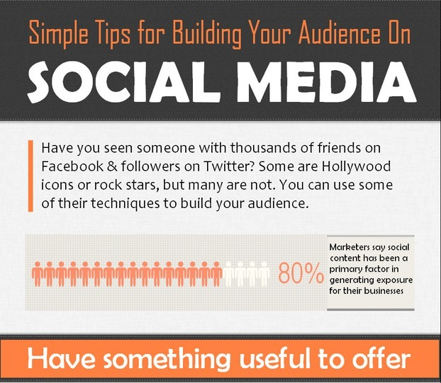 Simple Strategies For Growing A Social Media Audience [Infographic]