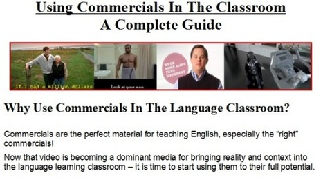 Using Commercials in the EFL Classroom guide | Create: 2.0 Tools... and ESL | Scoop.it