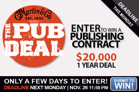 DEADLINE MONDAY: The Pub Deal Contest, Win a Publishing Contract | Around the Music world | Scoop.it