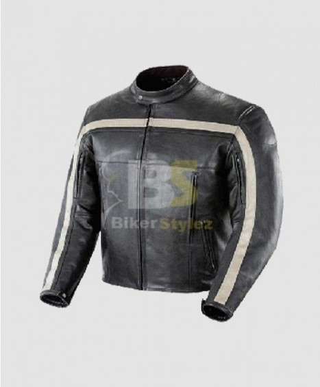 Joe Rocket Old School Black & Ivory Motor Bike Leather Jacket Must Have outfit. | Biker stylez leather jackets | Scoop.it