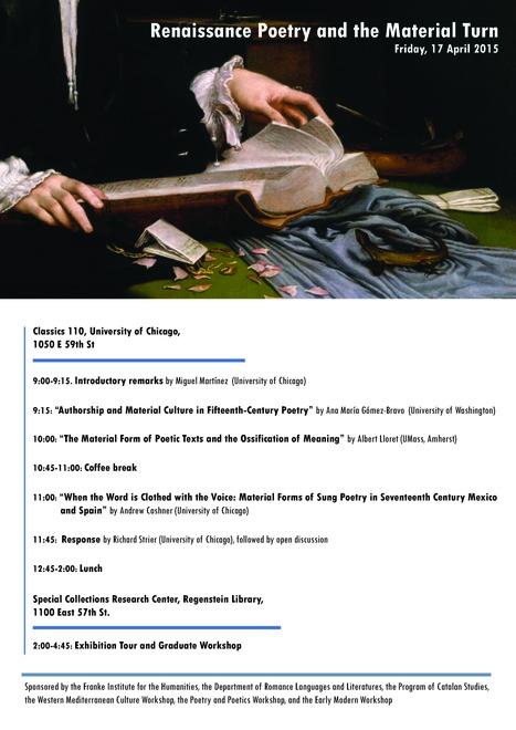 Albert Lloret invited speaker at the University of Chicago | The UMass Amherst Spanish & Portuguese Program Newsletter | Scoop.it