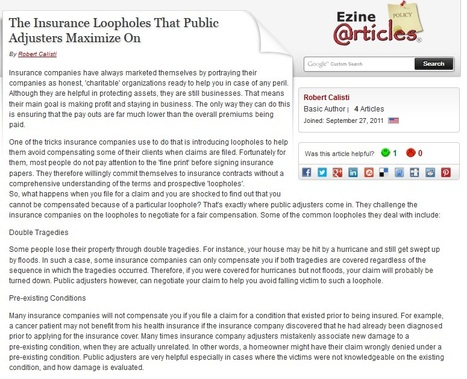 The Insurance Loopholes That Public Adjusters Maximize On | Insurance | Scoop.it