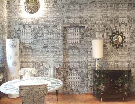 collection de papiers peints fornasetti par col. Black Bedroom Furniture Sets. Home Design Ideas
