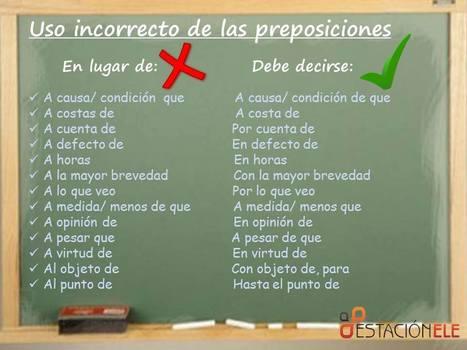 Preposiciones | E- learning, Culture,  Languages | Scoop.it