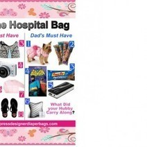 Did you know what hubby carries to hospital  during early labor? | Visual.ly | Best of the best designer diaper bags | Scoop.it