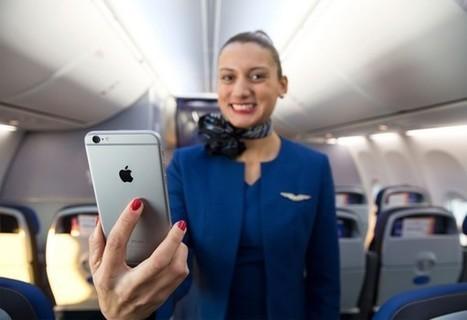 United Airlines va doter ses équipages de 23 000 iPhone 6 Plus - 01net | IFE, IFEC | Scoop.it