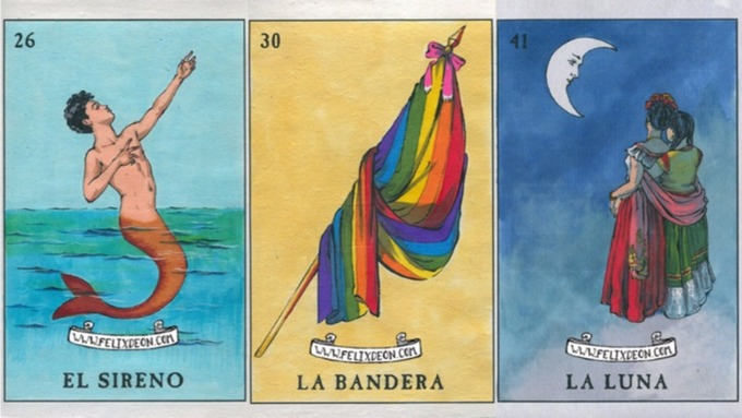 Chicano artist's 'Gay Lotería' series celebrates queer love and identity