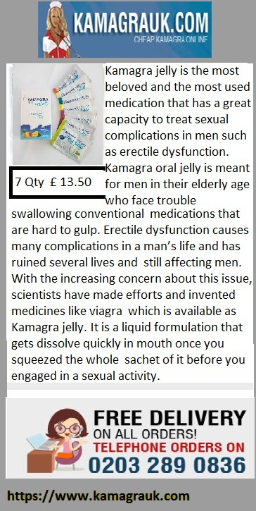 Kamagra jelly medication have great capacity to treat sexual complications in men | Kamagra male Impotent | Scoop.it