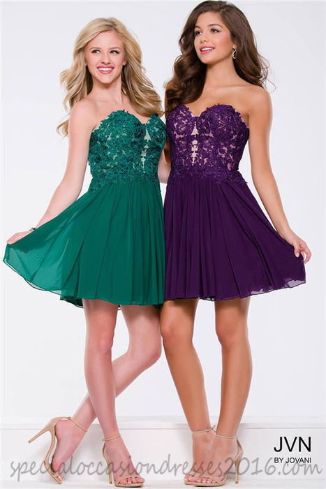 JV47312 Strapless Lace Homecoming Dresses 2016 | women fashion dresses | Scoop.it
